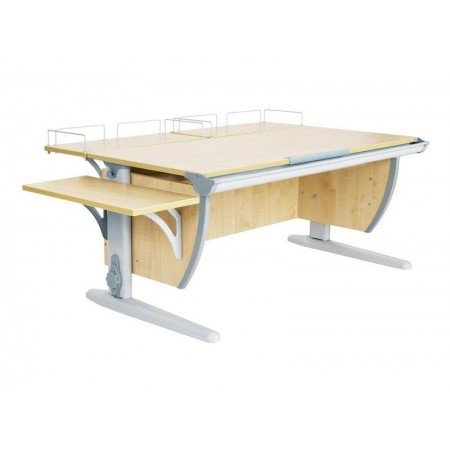 Парта ДЭМИ СУТ-15-02 120х55 см + 2 задние и боковая приставки, ДЭМИ Мебель