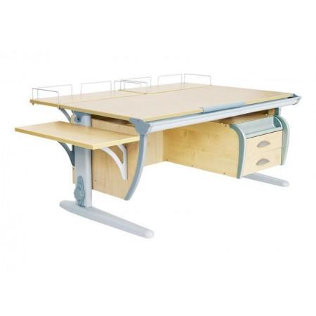 Парта ДЭМИ СУТ-15-05 120х55 см + 2 задние приставки + боковая приставка + подвесная тумба, ДЭМИ Мебель