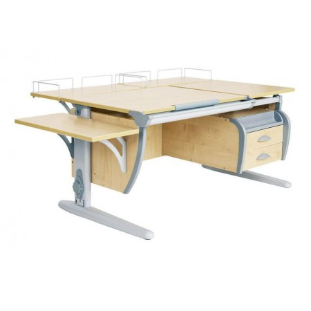 Парта Дэми СУТ 17-05 (парта 120 см+две задние приставки+боковая приставка+подвесная тумба), ДЭМИ Мебель
