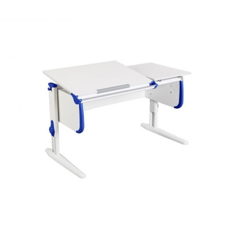 Парта для детей Дэми СУТ-25 WHITE DOUBLE с раздельной столешницей, ДЭМИ Мебель