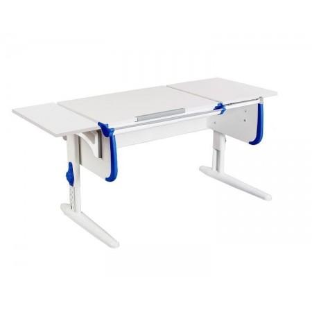 Парта Дэми СУТ-25К WHITE DOUBLE с раздельной столешницей и боковой приставкой, ДЭМИ Мебель