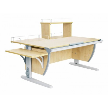 Парта Дэми СУТ 15-02Д (парта 120 см+задняя приставка+двухъярусная задняя приставка+боковая приставка), ДЭМИ Мебель