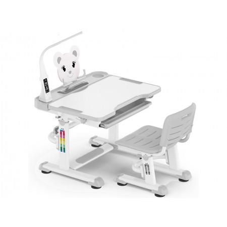 Комплект парта и стульчик Mealux BD-04 New XL с лампой (EVO-04 XL new )
