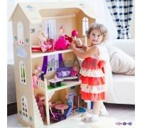 Кукольный домик для Барби - Шарм 16 предметов мебели 2 лестницы