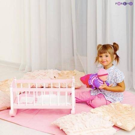 6891, Деревянная кроватка для куклы, цвет Розовый, PFD116-09, 4000ք, 6891-01, PAREMO, Аксессуары для кукол