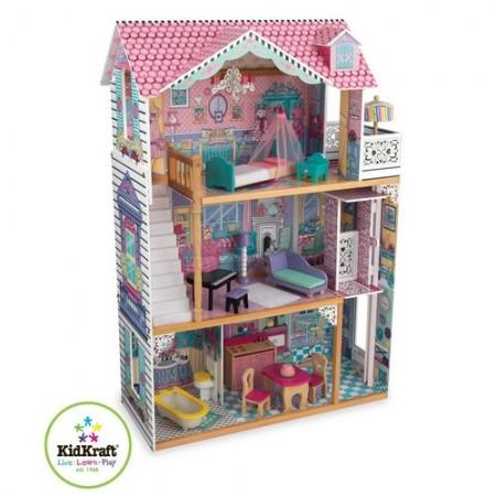 Трехэтажный дом для кукол Барби Аннабель - Annabelle с мебелью 17 элементов, KidKraft