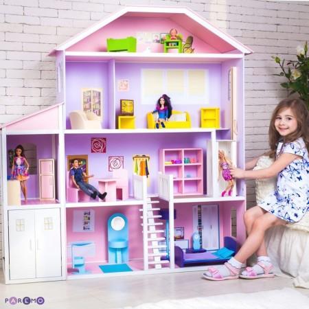 Домик для Барби - Фантазия гараж лифт лестница мебель, PAREMO