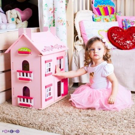 """4261, Большой домик из дерева для кукол """"Милана"""" с 15 предметами мебели, PD115-01, 7480ք, 4261-01, PAREMO, Домики для мини-кукол (12 см)"""