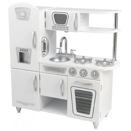 """Детская игрушечная кухня из дерева """"Винтаж"""", цвет Белый (White Vintage Kitchen), KidKraft"""