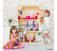 Кукольный домик для Барби - Грация 16 предметов мебели лестница лифт качели