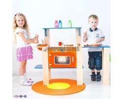 """Деревянная кухня-трансформер для детей """"Гавайский микс"""" с 16 аксессуарами"""