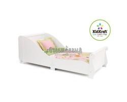 Детская кровать Sleigh белая