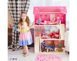 Кукольный домик для Барби - Вдохновение 16 предметов мебели 2 лестницы