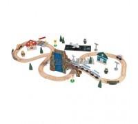 """Железная дорога - деревянный игровой набор """"Аэро Экспресс"""", в  контейнере"""