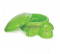 Песочница Черепаха с крышкой и игрушками (цвета в ассортименте)