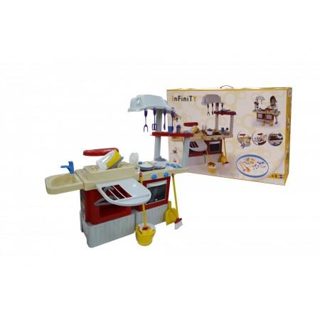 4354, Набор игрушечной кухни Infinity basic №4 (в коробке), 42309_PLS, 3860ք, 4354-01, Coloma Y Pastor, Пластиковые кухни