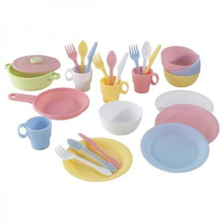 Кухонный игровой набор посуды Пастель (Pastel), KidKraft