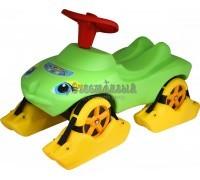 Каталка Мой любимый автомобиль зелёная со звуковым сигналом многофункциональная, Wader