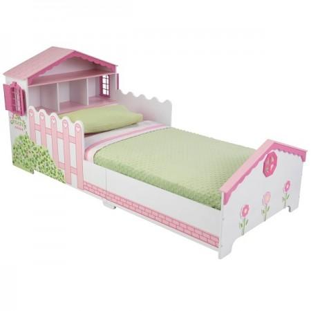 Детская кровать Кукольный домик с полочками, KidKraft