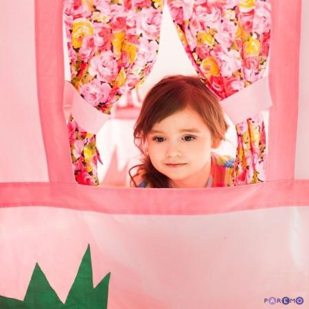 """Текстильный домик-палатка с пуфиком для девочек """"Дворец Мирабель"""", PAREMO"""