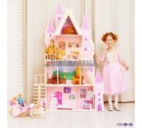 Кукольный дворец - Розовый сапфир с 16 предметами мебели и текстилем