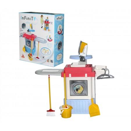 5366, Набор Infinity premium №1 (в коробке) (Стиральная машина,вращающийся барабан,из крана льется вода), 42330_PLS, 3670ք, 5366-01, Palau Toys, Уборка и глажка