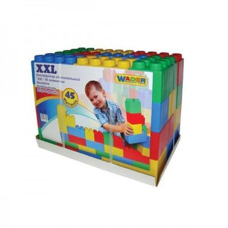 """4716, Конструктор строительный """"XXL"""", 45 элементов, 37510_PLS, 3650ք, 4716-01, Wader, Конструктор для детей"""