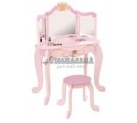 """Туалетный столик (трельяж) с зеркалом для девочки """"Принцесса"""" (Princess Vanity & Stool)"""