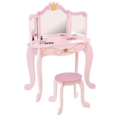 """Туалетный столик (трельяж) с зеркалом для девочки """"Принцесса"""" (Princess Vanity & Stool), KidKraft"""