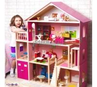 Большой дом для Барби Мечта - 28 предметов мебели-лифт-лестница-гараж-балкон-качели
