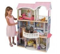 Винтажный кукольный дом для Барби - Магнолия Magnolia с мебелью 13 предметов