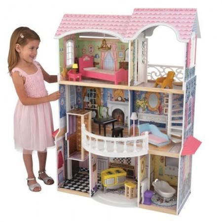 Винтажный кукольный дом для Барби - Магнолия Magnolia с мебелью 13 предметов, KidKraft