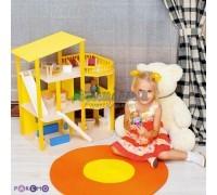 """Кукольный домик """"Солнечная Ривьера"""" с мебелью 21 предмет"""
