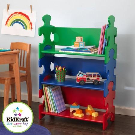 """Система хранения """"Пазл"""", яркий (Puzzle Book Shelf - Primary), KidKraft"""