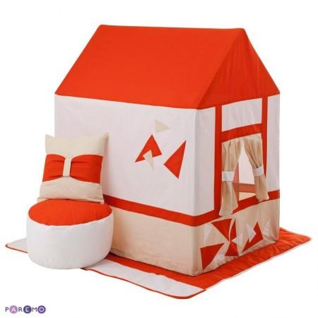 """Текстильный домик-палатка с пуфиком для девочек и мальчиков """"Замок Сомерсет"""", PAREMO"""