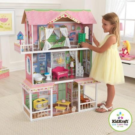 Деревянный дом для Барби - Карамельная Саванна Sweet Savannah с мебелью, KidKraft