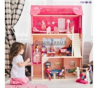 Кукольный домик для Барби - Муза 16 предметов мебели лестница лифт качели