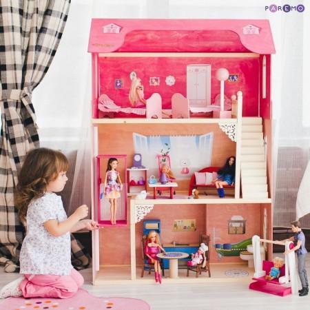 Кукольный домик для Барби - Муза 16 предметов мебели лестница лифт качели, PAREMO