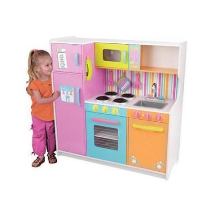 """Большая детская игровая кухня """"Делюкс"""" (Deluxe Big & Bright Kitchen), KidKraft"""
