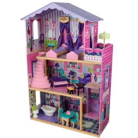 Деревянный домик Барби - Особняк мечты My Dream Mansion с мебелью 13 элементов, KidKraft