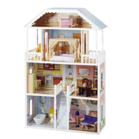 Кукольный домик для Барби - Саванна Savannah с мебелью 14 элементов, KidKraft