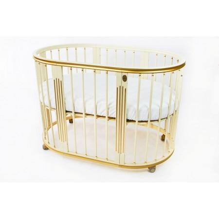 Кроватка-трансформер - Magic Dream 6 в 1 Ар-деко Золото, Royal-Baby