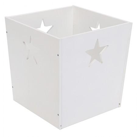 Деревянный ящик для игрушек, белый со звездочкой, VamVigvam