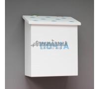 Деревянный почтовый ящик Белый