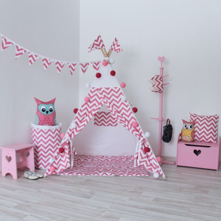 Вигвам Игровая палатка Pink Zigzag, VamVigvam