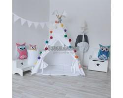 Simple White Вигвам для детей