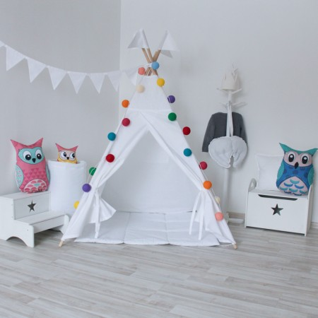 Simple White Вигвам для детей, VamVigvam