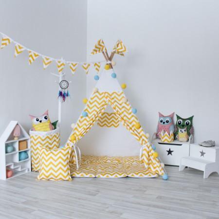 Вигвам для детей Yellow Zigzag, VamVigvam